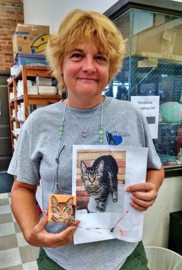 Jane with Mini Cat