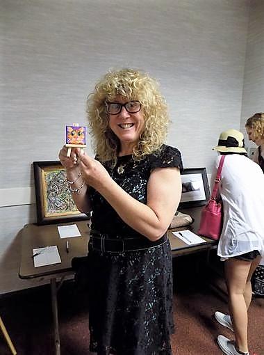 Diane holding mini cat