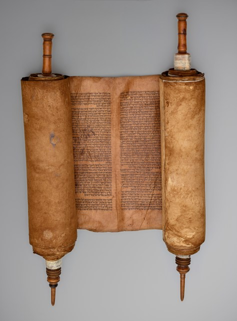 Sephardic Torah Scroll Spain, 1501-1600 Unidentified artist Vellum, wound around two wood guides Museo Sefardí, (0070/001), Spain