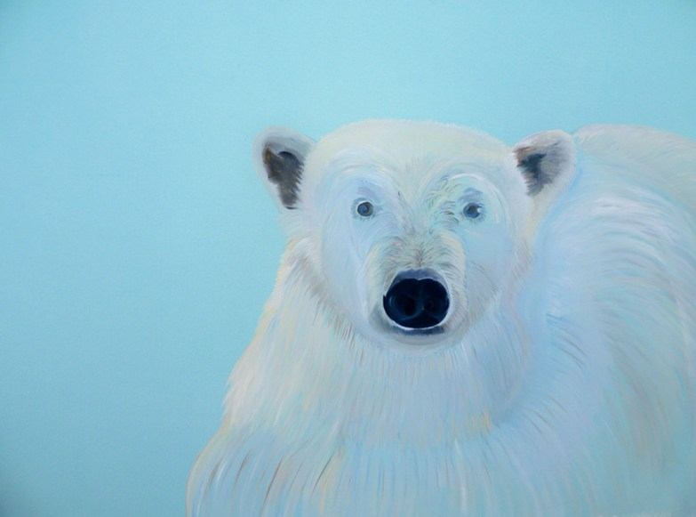 Juvenile Bear Svalbard 36x48