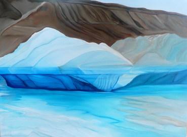 Glacier's Edge Qaanaaq Western Greenland 36x48 - Oil and Canvas