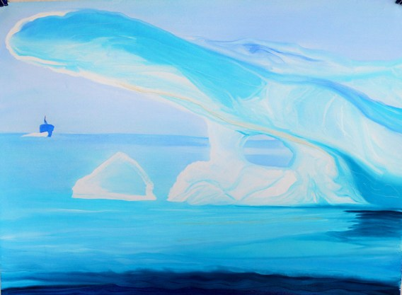NWP Ice Flow and Ship Peel Sound NorthWest Passage 18x24