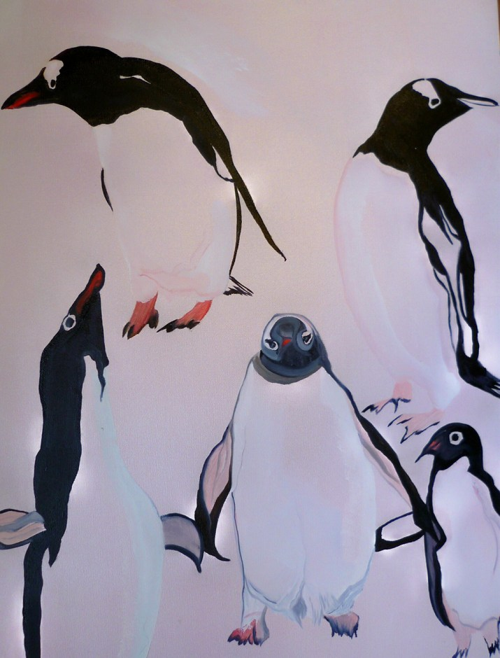 Sketch-Five-Penguins-Half-Moon-Island-Deception-Islands-18x-24