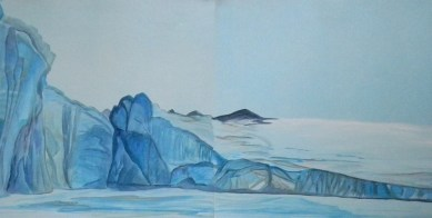 Tikhaya Bay Exampe of Full-Size-Glacier Franz Josef Land 18x24