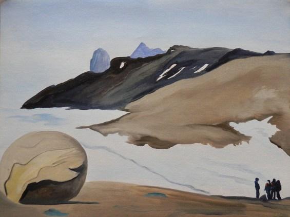 Stone Sphered Geodes Champ Island Franz Josef Land 18x24