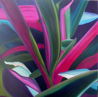 Agave-Green-and-Purple-36x36
