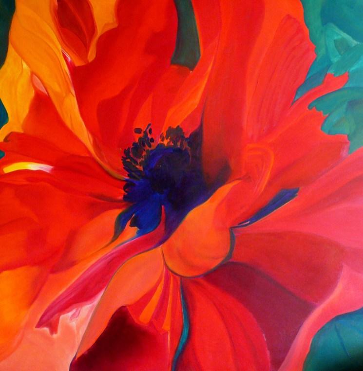 Pretty Poppy 48x48