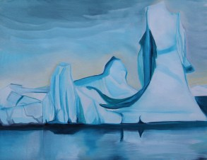 Fantasy Iceberg in Blue Amundsun Sea 18x24