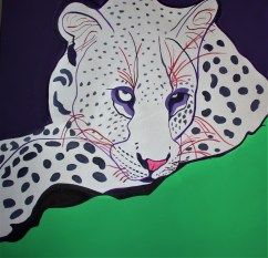 Lazy Leopard 36x36 Mixed media Bostwana