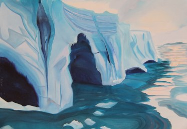 Sketch Iceberg and Four Tunnels 18x24 Acrylic and Oil on Canvas Amundsen Sea Antarctica