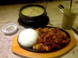 Dak Kal Bi- RM 20 and Korean Style Gye Tang (Ginseng Chicken Soup)- RM 30
