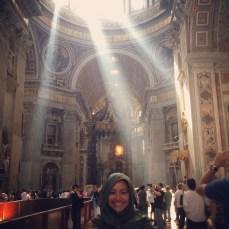Gypsy Girl inside the Basilica! (Me)