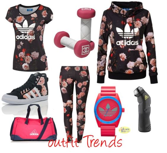 Floral work out wear