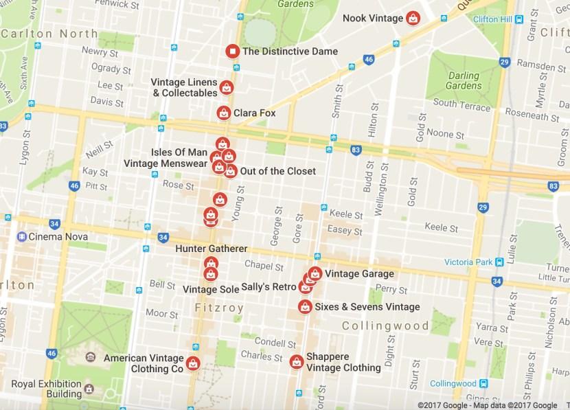 Vintage stores Melbourne Brunswick