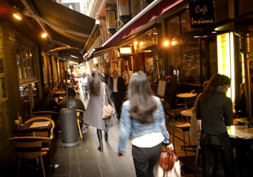 Melbourne Shopping by Angela Rutherford