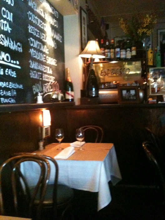 This is where we sat in Caffe E Cucina