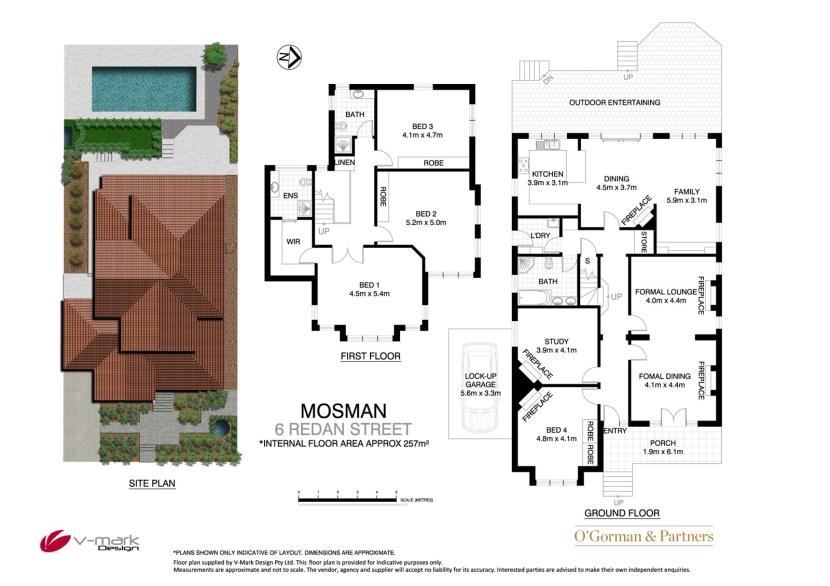 Mosman Property 6 Redan St - Floor plan