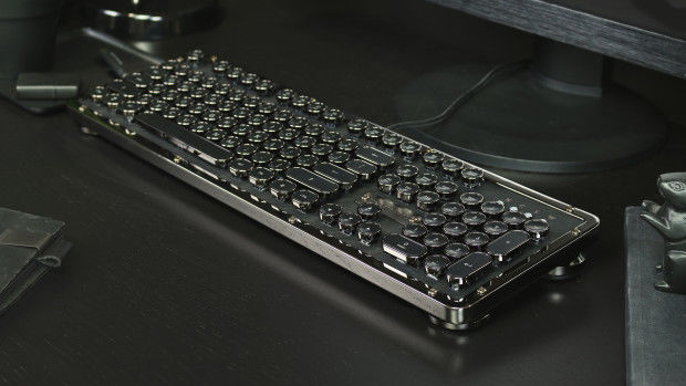 Azio Industry First Luxury Vintage Inspired Keyboard Onyx