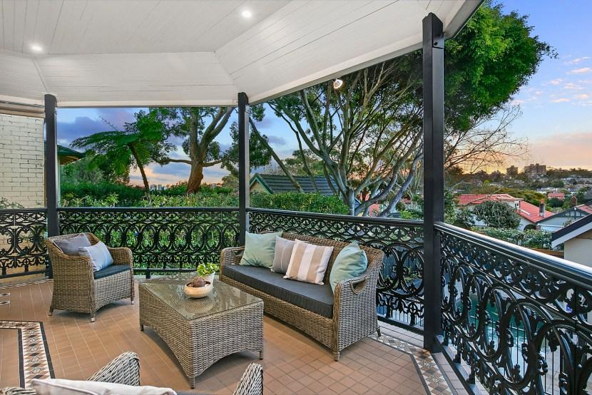 Wrought Iron Balcony - 32 Shadforth Street Mosman NSW 2088