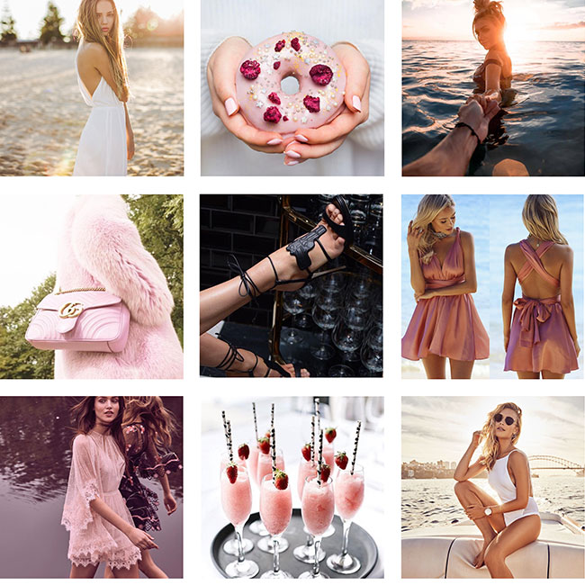 Instagram Post sample for Hello Molly - Overview 3 x 3 grid