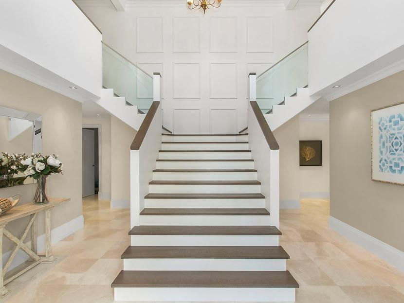 Dream Hamptons Style Home in Mosman - entrance and stair case