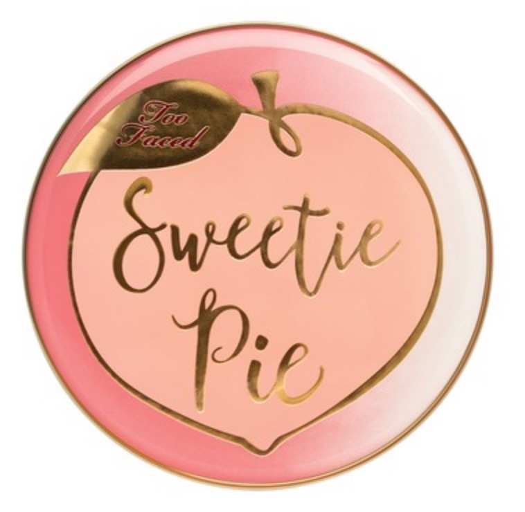 Lid for Close up of pan of Too Faced Sweetie Pie Radiant Matte Bronzer