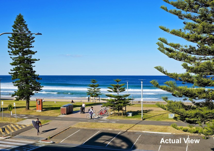 The actual 180 degree view of Manly Beach