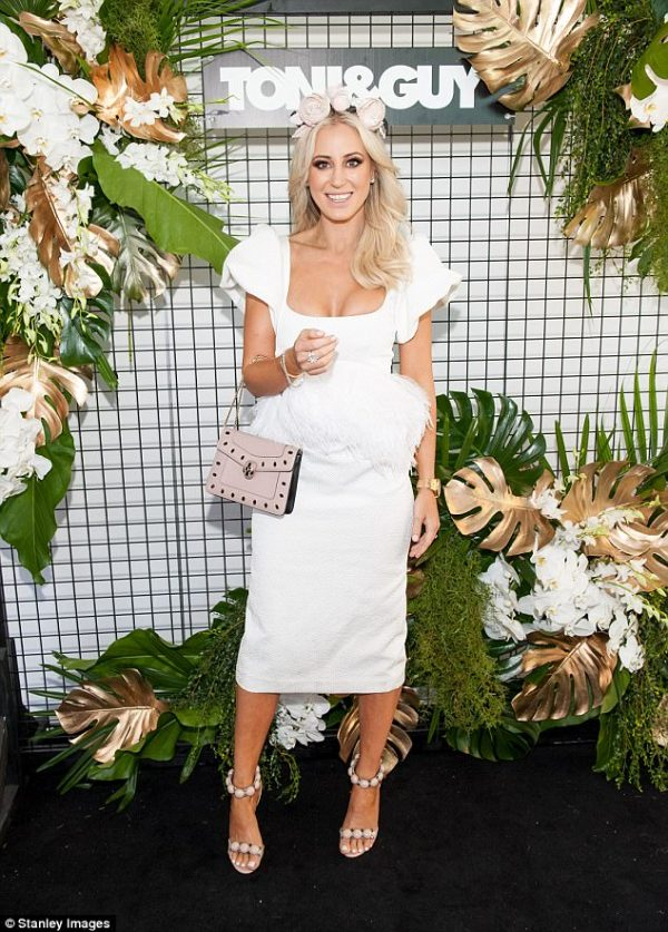 Roxy Jacenko at the races, doing what she does best, standing out from the pack.