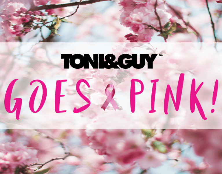 toni and guy goes pink for october