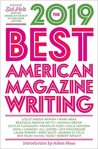 Best American Magazine Writing 2019