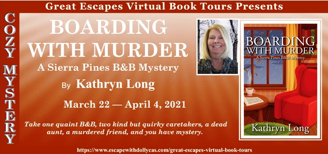 Boarding with Murder Author Guest Post and Giveaway