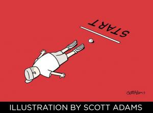 Faceplant Illustrations by Scott Adams