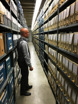 Archivist in archives