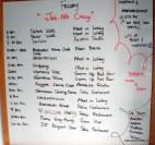 The Friday activity board