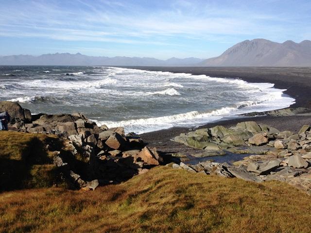 Rocky windy beach