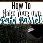 Make Your Own Rain Barrel