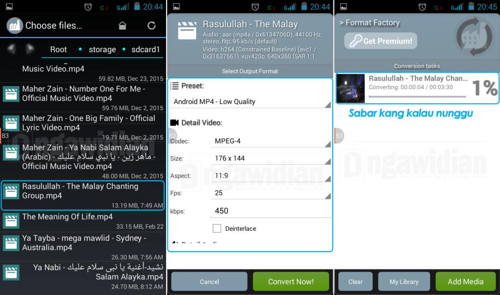 Cara Merubah Format Android dengan Format Factory