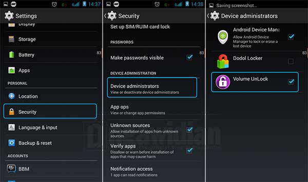 Menutup dan Membuka Kunci Layar Android Dengan Volume Unlock