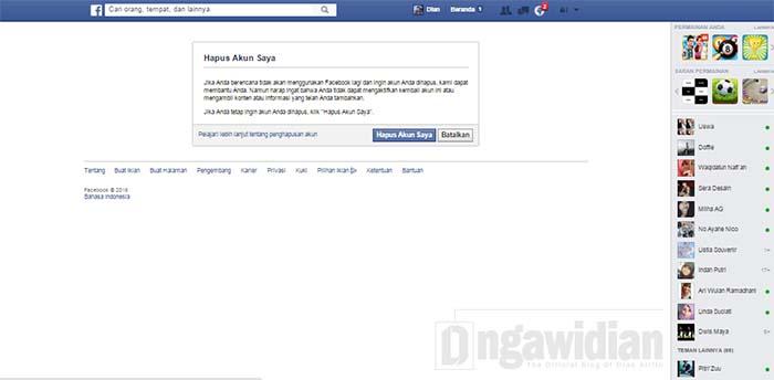 Cara Menghapus Akun Facebook di Android