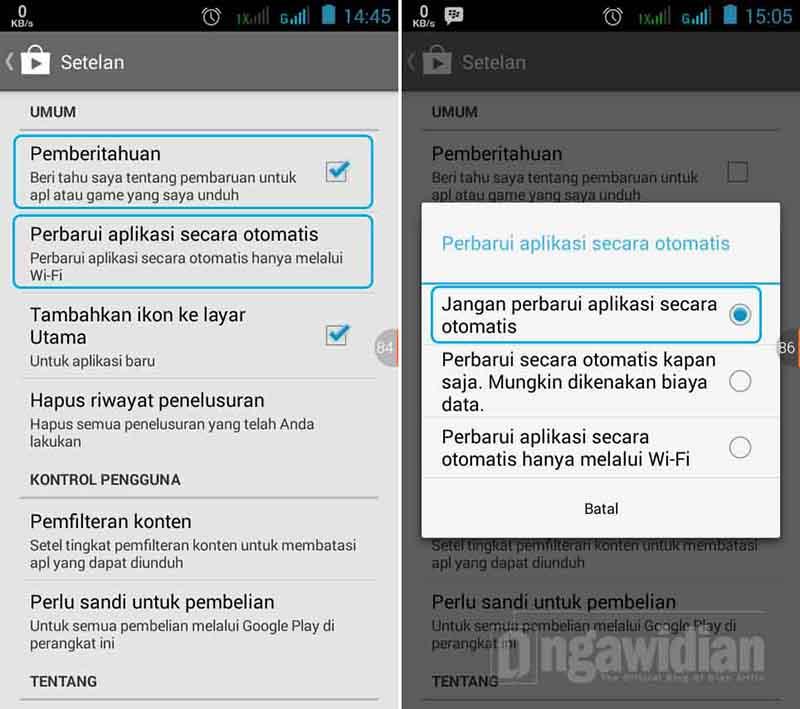 Menghentikan Auto Update Aplikasi Android