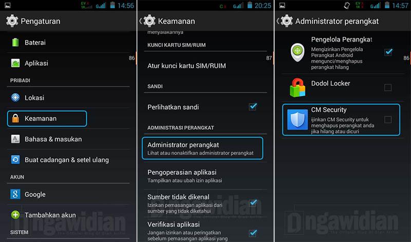 Menonaktifkan Aplikasi App Lock