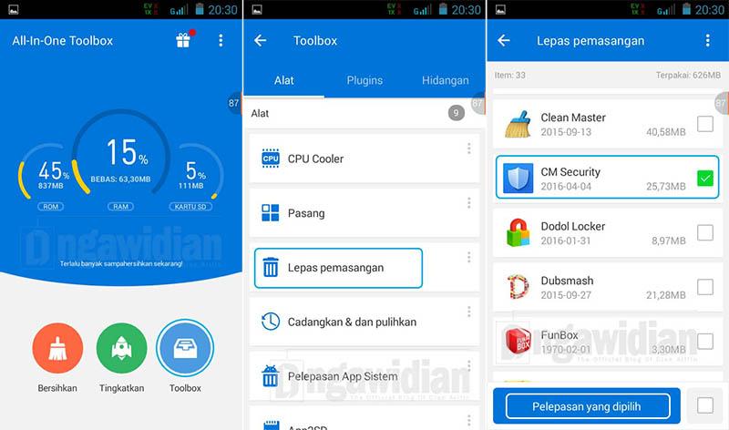 Uninstall Aplikasi App Lock