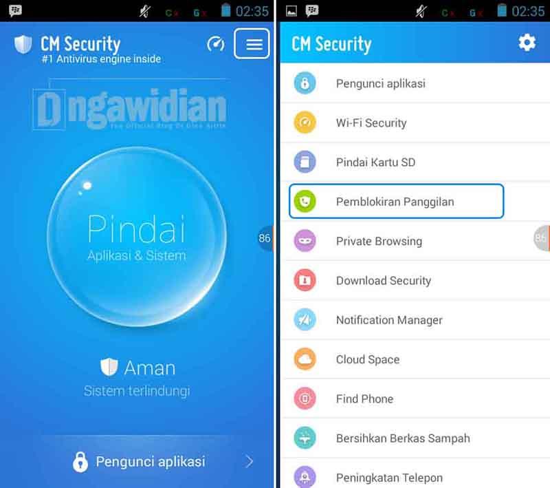 Memblokir Panggilan Masuk di Android