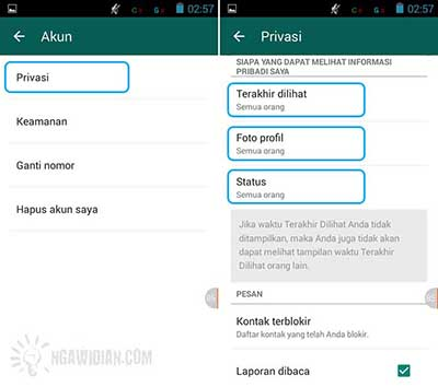 Atur Privasi WhatsApp