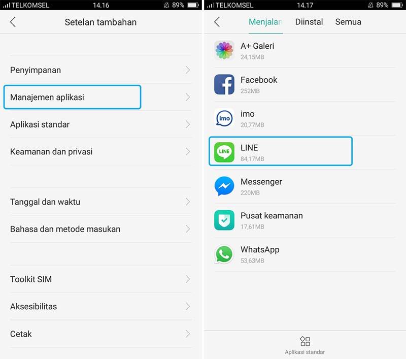 Hapus Aplikasi Android