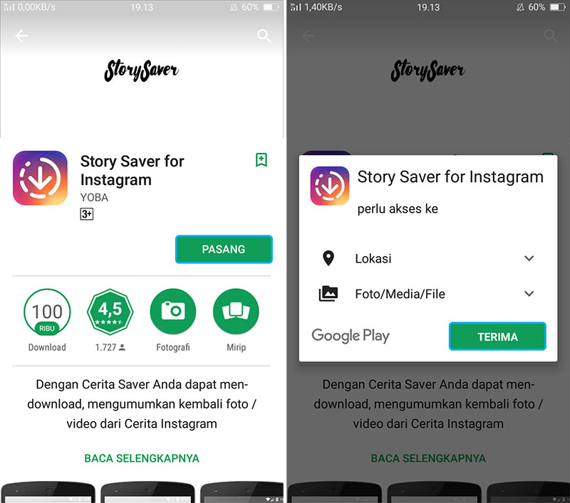 Unduh dan Install Story Saver for Instagram
