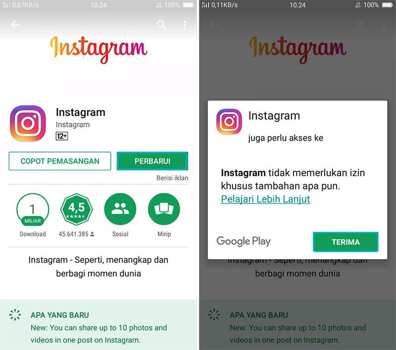 Update Aplikasi Instagram