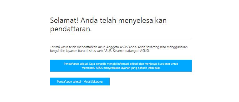 Berhasil Buat Akun di Forum ASUS ZenTalk Indonesia