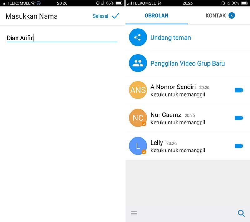 Cara Mendaftar IMO di Android