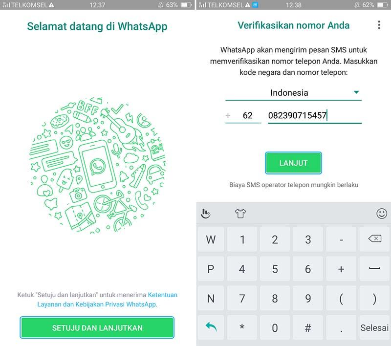 Daftar WhatsApp Android